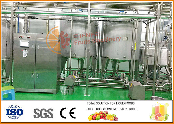 Automatic  Blending System ,  Juice And Jam Blending and filling line