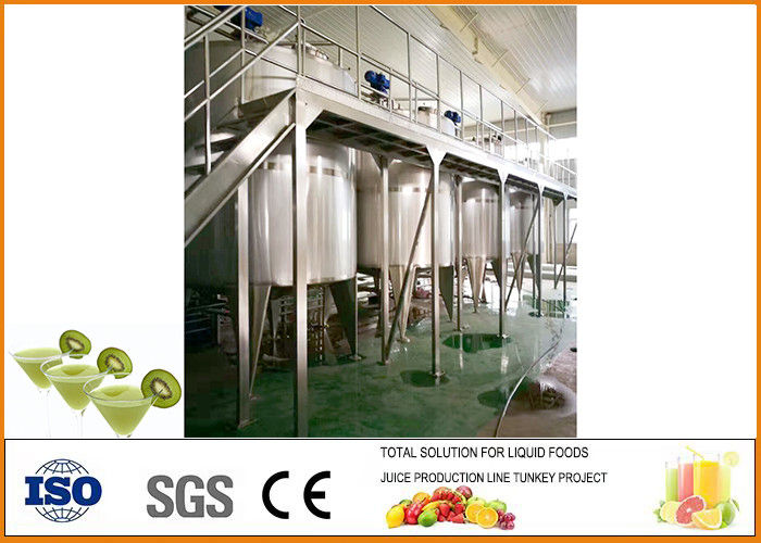 Professional Kiwi Fruit Wine Production Line 304 Stainless Steel Material
